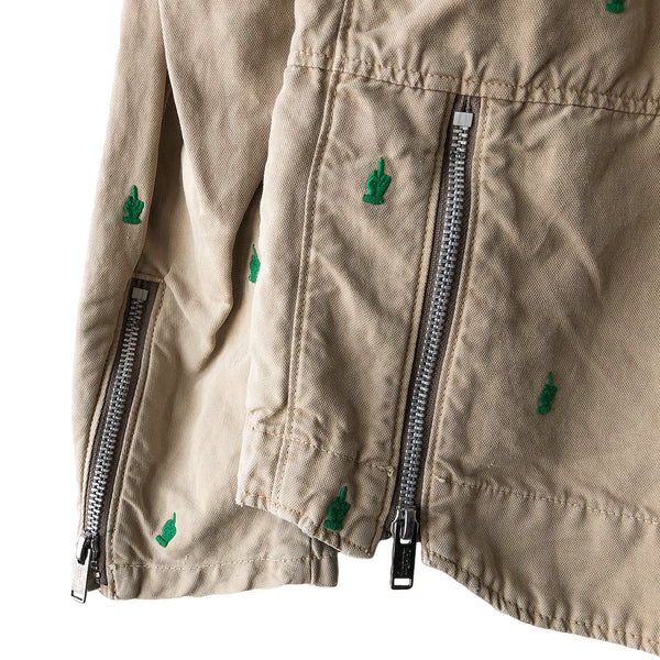 "Undercover Middle Finger Cotton Perfecto Jacket - SS13 ""Talking Heads"""
