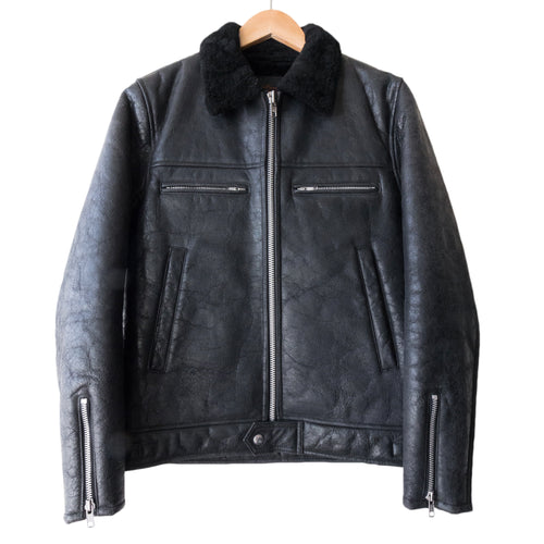 Undercover Cracked Shearling Jacket - AW02