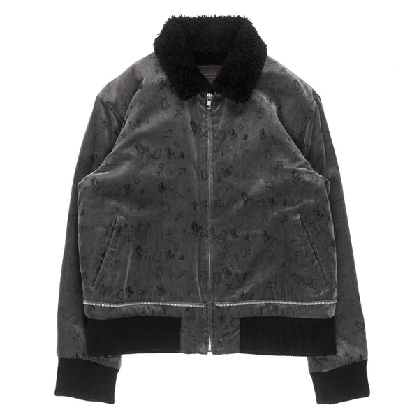 "Undercover Velour Shearling Jacket - AW02 ""Witch's Cell Division"""
