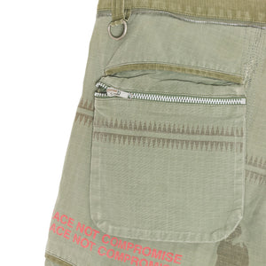 "Undercover ""Peace Not Compromise"" Green Cargo Trousers - SS03 ""Scab"""