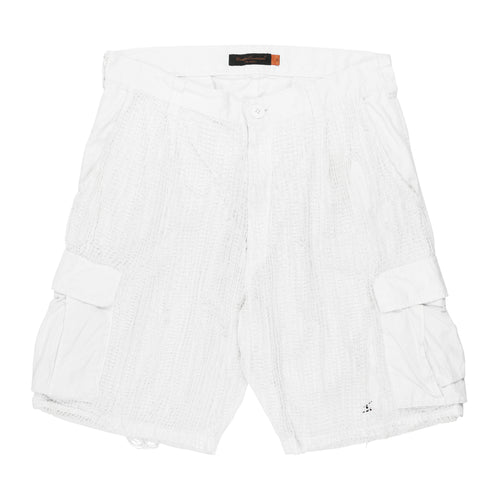 Undercover White Netted Cargo Shorts - SS06