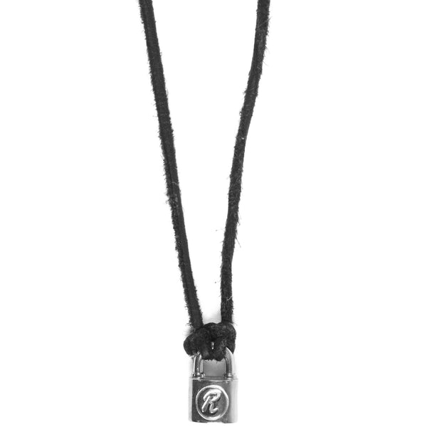 Undercover Black Rabbit Padlock Necklace