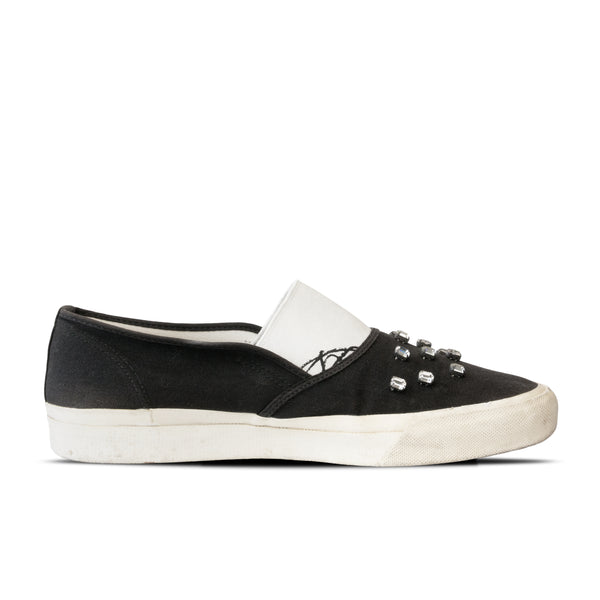 "Undercover D.A.V.F. Canvas Slip On Shoes - AW01 ""D.A.V.F."""