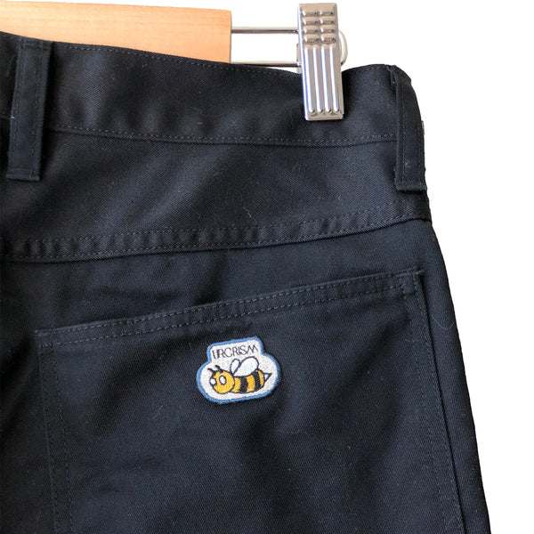 Undercover Bee Embroidery Black Cotton Jeans