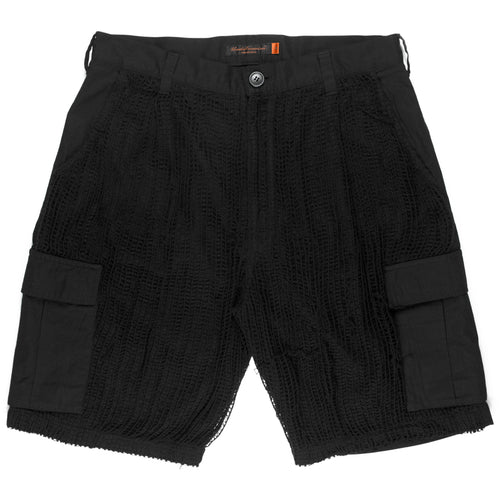 Undercover Black Netted Cargo Shorts - SS06