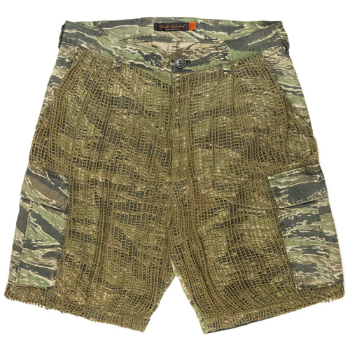 Undercover Tiger Camo Netted Cargo Shorts - SS06