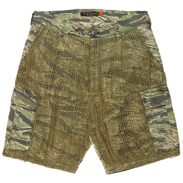 "Undercover Tiger Camo Netted Cargo Shorts - SS06 ""T"""