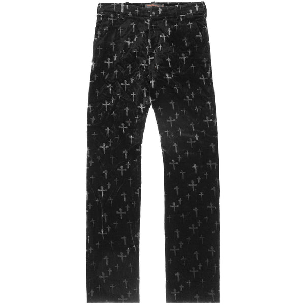 "Undercover Velour Cross Trousers - AW02 ""Witch's Cell Division"""