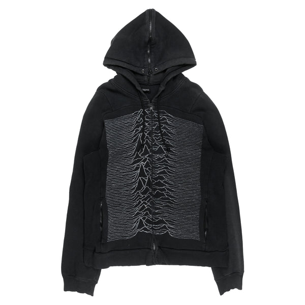 "Undercover Joy Division ""Unknown Pleasures"" Hooded Sweatshirt - AW09 ""Earmuff Maniac"""