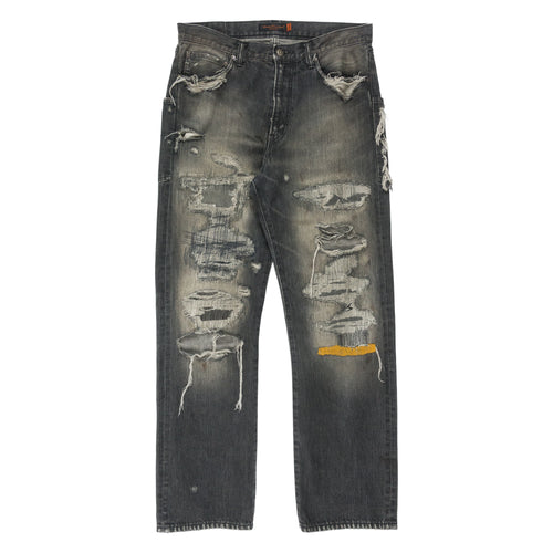 Undercover 68 Yellow Yarn Jeans - AW04