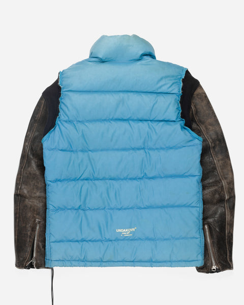 "Undercover X The North Face ""Undakovr"" Leather Sleeve Puffer Jacket"