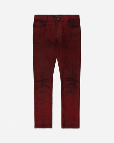 Raf Simons Black Red-Coated Denim Jeans  - AW05