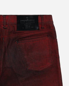 "Raf Simons Black Red-Coated Denim Jeans  - AW05 ""History Of My World"""