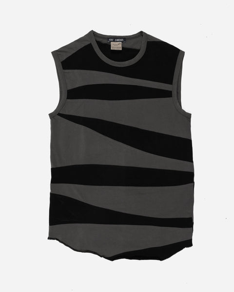 "Raf Simons Slash-Paneled Sleeveless-Top - SS97 ""How To Talk To Your Teen"""
