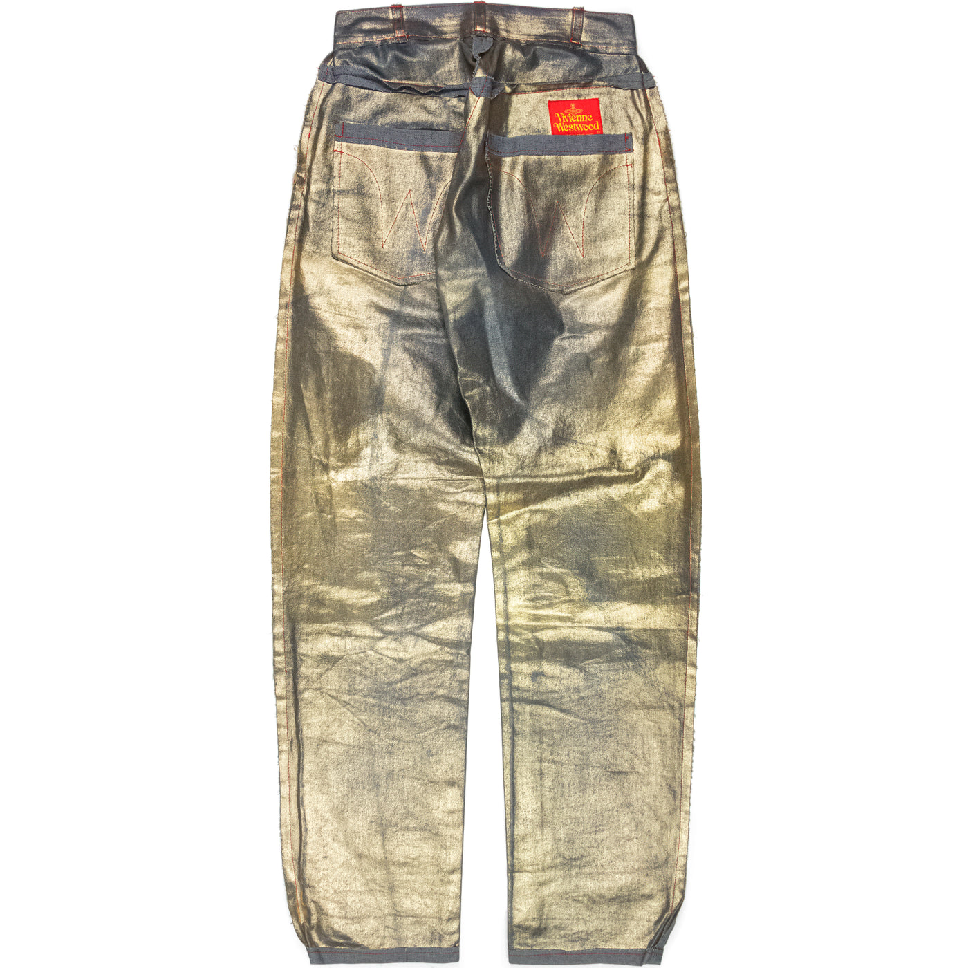 Vivienne Westwood Semi-Finished Metallic Gold Denim - AW92