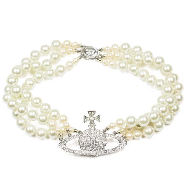 Vivienne Westwood Triple Layered Pearl Necklace