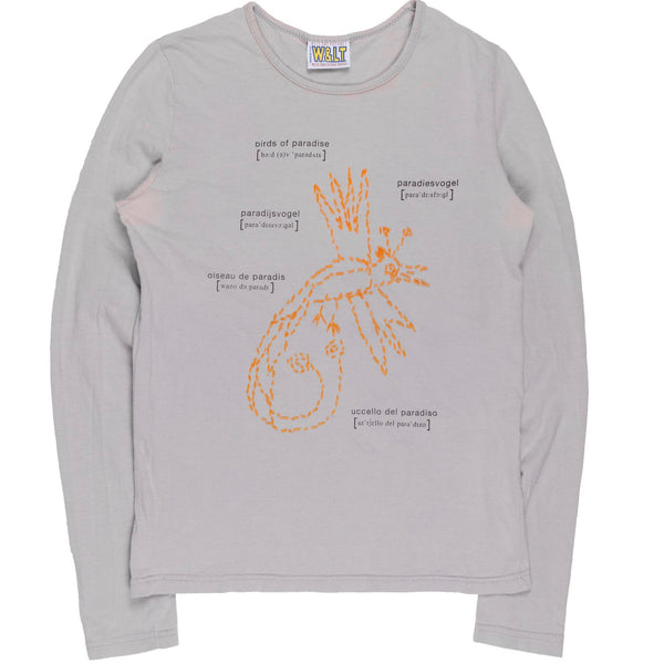"Walter Van Beirendonck ""Birds of Paradise"" Embroidered Long Sleeve Tee"