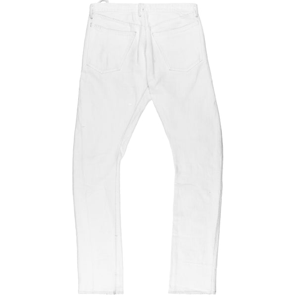 "Carol Christian Poell White Overlock Denim Jeans - SS06 ""U-Turn"""