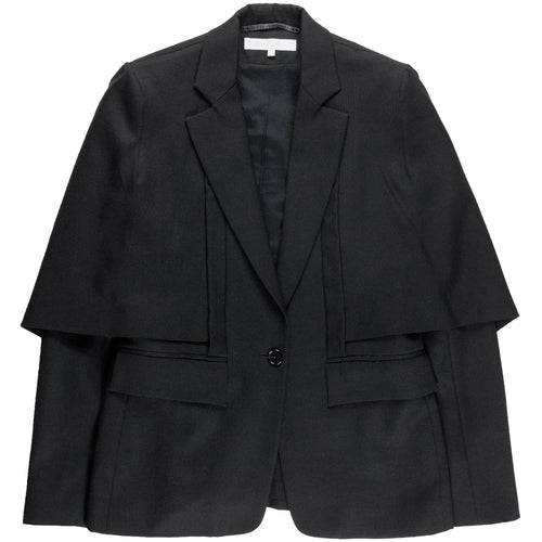 Veronique Branquinho Black Wool Capelet Blazer - AW03