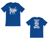FEND don't get high get twiztid t-shirt in blue front and back view