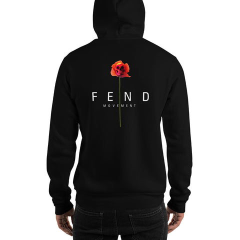 limited edition poppy fend movement hoodie in black