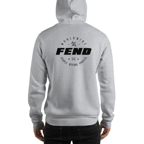 FEND worldwide people before profits hoodie