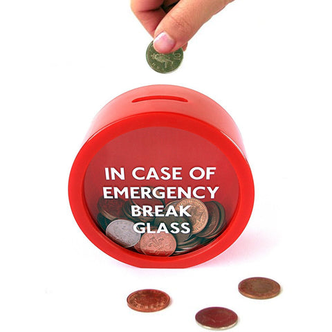 Buy the Emergency Break Glass Money Box at Koobee