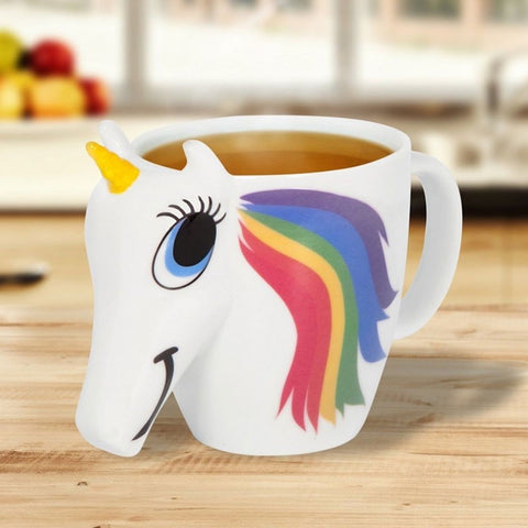 Buy the 3D Unicorn Heat Changing Mug at Koobee