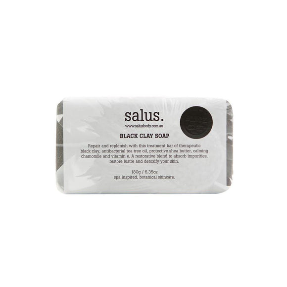 Salus - Black Clay Soap - 180gms