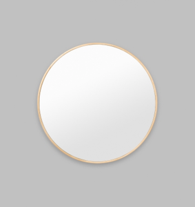 Middle of Nowhere - Bella Round Mirror - Brass