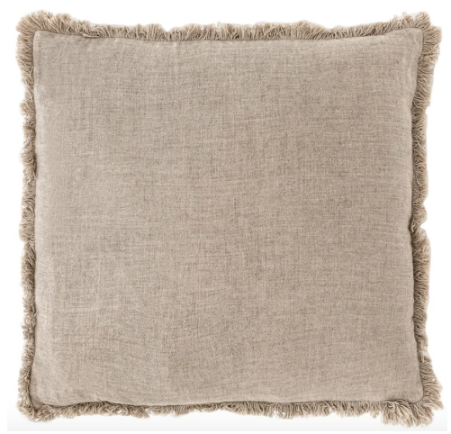 Eadie Lifestyle - Luca Boho Linen Cushion - Natural