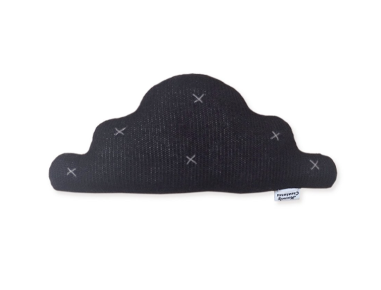 Homely Creatures - Knitted Cloud Cushion - Black - Med