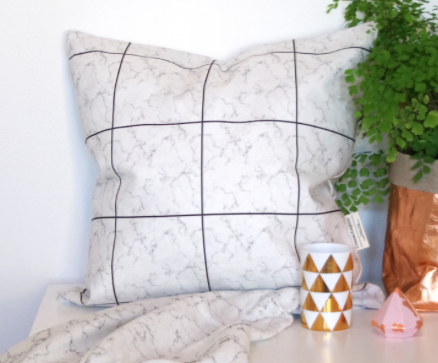 Cream Empire - Cushion Cover - Marble Grid
