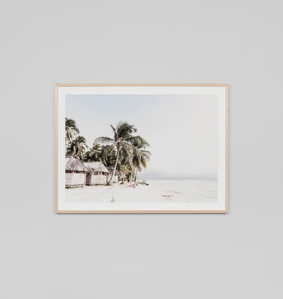 Middle of Nowhere - Tropical Resort Framed Print