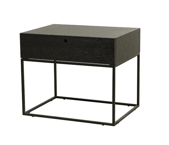 Globe West - Siena Bedside Table - Dark Wenge
