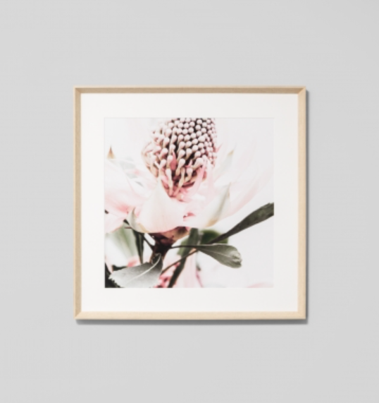 Middle of Nowhere - Native Floral 1 Framed Print