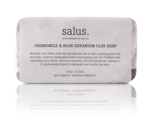 Salus - Chamomile and Rose Geranium Clay Soap