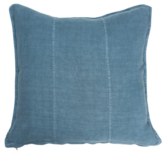 Eadie Lifestyle - Luca Linen Cushion - Blue Azure