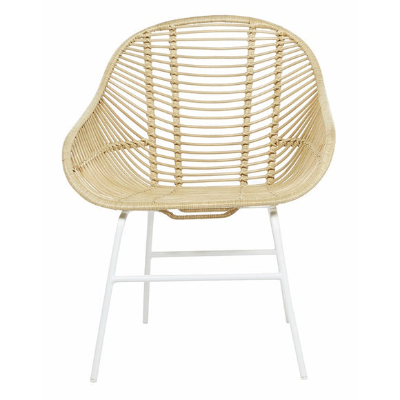 Globe West - Tango Leaf Arm Chair - Natural/White