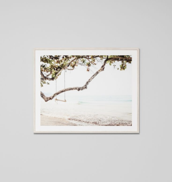 Middle of Nowhere - Ocean Swing Framed Print