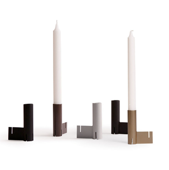 Addition Studio - Interlock Candle Stick - Coffee