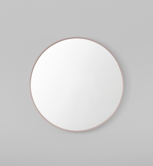 Middle of Nowhere - Flynn Round Mirror - Blush