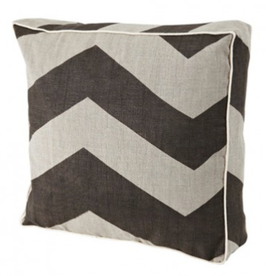 Bonnie and Neil - Cushion - Chevron Black