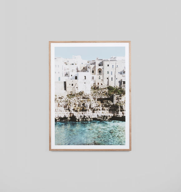 Middle of Nowhere - Amalfi Village Framed Print