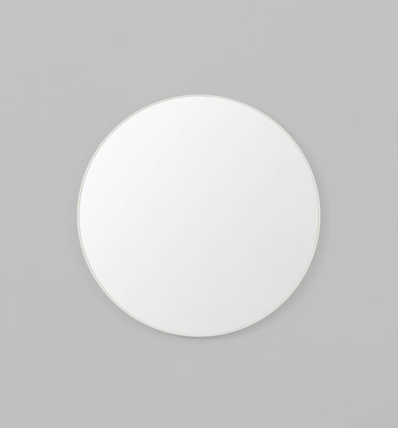 Middle of Nowhere - Flynn Round Mirror - White