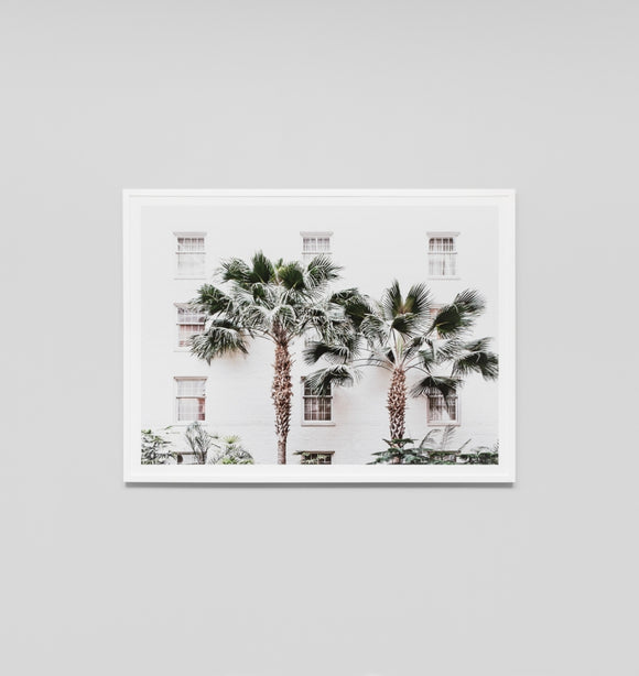 Middle of Nowhere - Palm Resort Framed Print