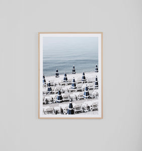 Middle of Nowhere - Positano Framed Print