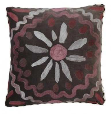 Bonnie and Neil - Cushion - Heirloom Black Plum Velvet