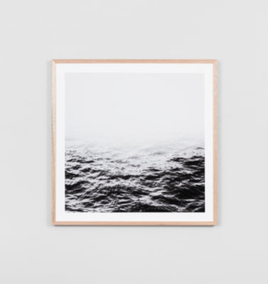 Middle of Nowhere - Distant Waters Grey Framed Print