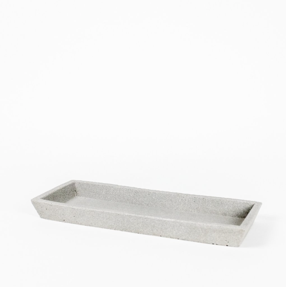 Zakkia Concrete Square Tray Natural